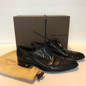 Louis Vuitton Black Leather Dress Shoes